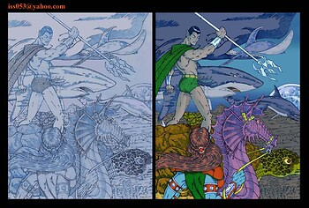 Submariner The Lord of Atlantis (pencil & color)