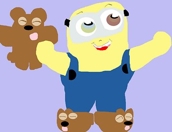 Bob With Bear Stuff MS Paint