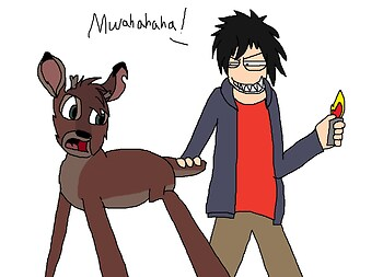Hiro is gonna burn Ronno's Tail