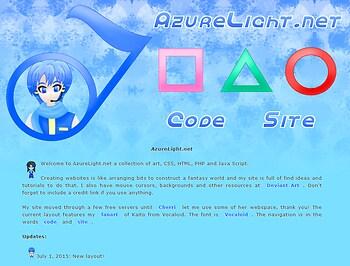 AzureLight.net Kaito layout