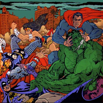 Batman, Superman, Wonder Woman vs. Thor , Hulk (clr)