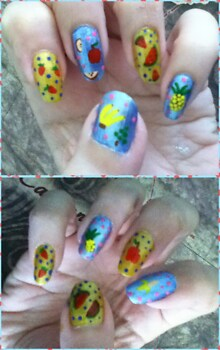 fruits manicure