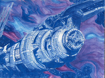 theme challenge - blue - babylon 5 screencap redraw