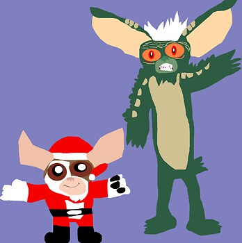 A Very Gremlins Christmas Scene MS Paint^0^