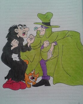 Gargamel, Azrael and The Hooded Claw