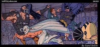 Batman/El Santo vs Bane/Joker & Penquin (clr)