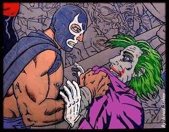 Blue Demen vs. The Joker (clr)
