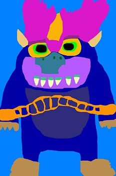 My Pet Monster Noodman Like Hairstyle MS Paint Again
