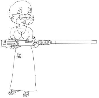 Ma Deuce Miss Kitty raw sketch