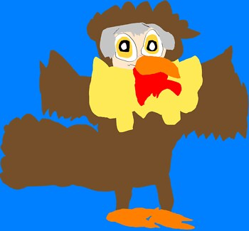 Cedric The Turkey MS Paint
