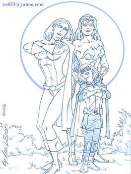 Hit Girl Joins Power Girl & Wonder Woman (sketch)