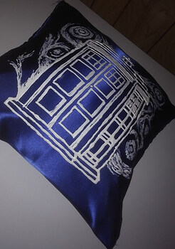 Doctor Who pillow painting