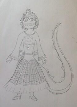Princess Darla/Aurthur sketch