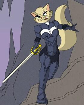 Feline Warrior Delilah