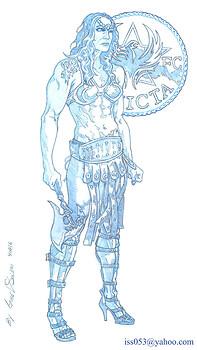 "CHRIS ""CYBORG"" AMAZON MMA WARRIOR CHAMPION (pencil)"