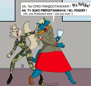 Catfight: Paratrooper against Chekist
