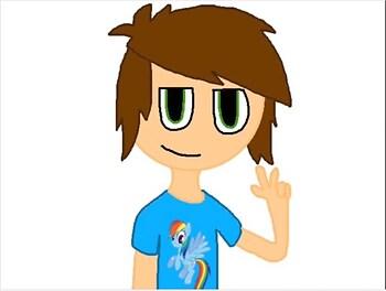 Arthur with a Rainbow Dash Shirt