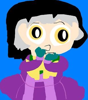 A Random Sad But Cute Looking Cedric Chibi MS Paint