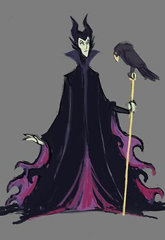 maleficent scribble