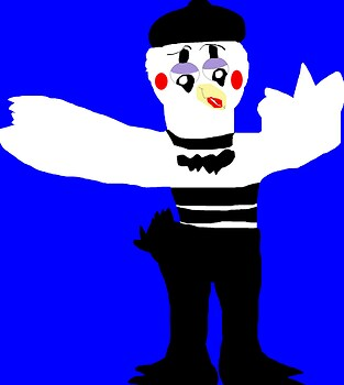 A Talking Mime Bird MS Paint^^
