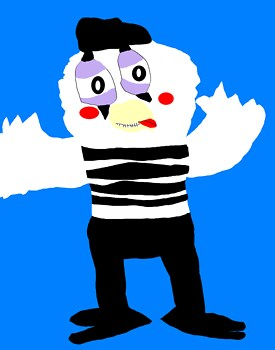Mime Bird Again MS Paint