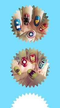 Super Hero Nail Art wallpaper