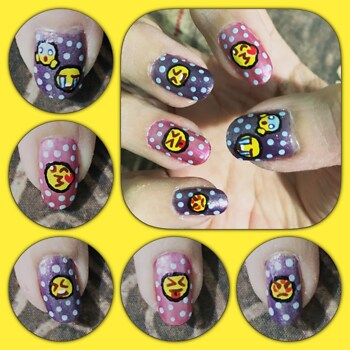 Emoji Nail Art Right