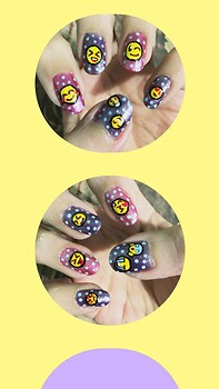 Emoji Nail Art Wallpaper