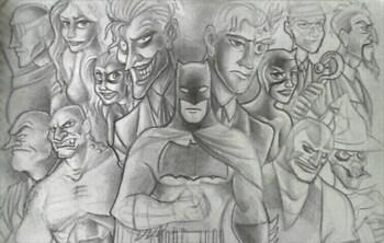 Batman in Disney style