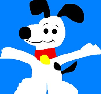 Snoopy MS Paint
