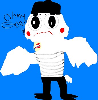 Mime Bird Randomly Blushing MS Paint^^