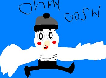 Boredom Cute Mime Bird MS Paint