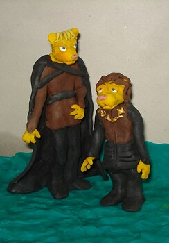 Tyrion and Joffrey, furry clay Games of Thrones