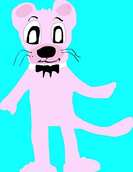 The Pink Panther In Hanna Barbera Style MS Paint^^