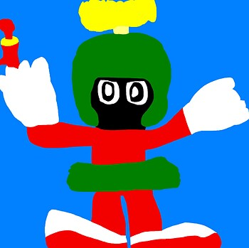 Marvin With A Blaster MS Paint