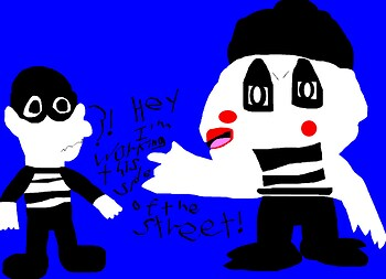 Mime Bird VS Shifty MS Paint Early B Day Pic For Lalondey^0