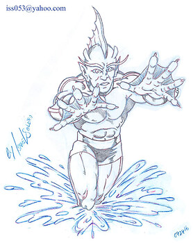 The Inhuman TRITON (pencil)