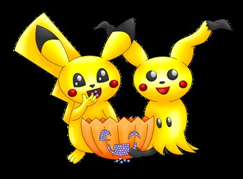 Pikachu Mimikyu Halloween transparent