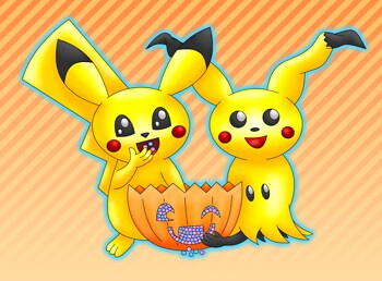 Pikachu Mimikyu Halloween colored
