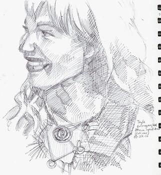 Inktober18 - Teyla speed-draw