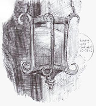 Inktober19 - hanging lamp