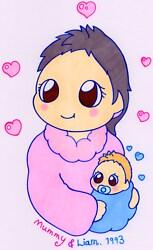 Happy Mummy & Baby Liam