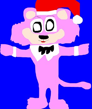 SnagglePuss In A Santa Hat MS Paint^^