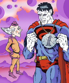 Mr. Mxyzptlk & BIZARRO-Superman