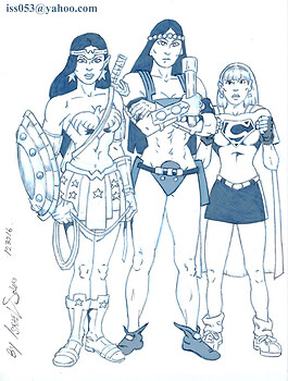 MAIDENS of Power: Wonder Woman, Big Barda & Supergirl (pencil)