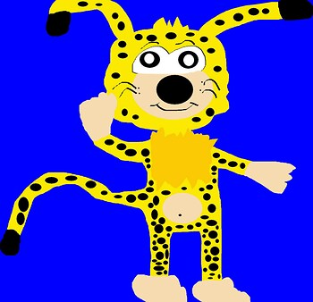 Marsupilami Sonic Style Again Newer For 2017 MS Paint^^