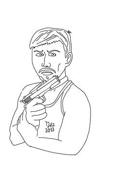 Jimmy Veneko raw sketch