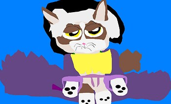 Grumpy Cat Cedric Full Version With Whiskers MS Paint