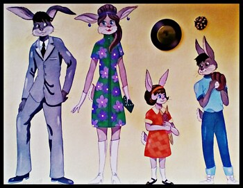 1960's Rabbit Family