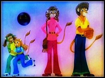 1970's Lion Family